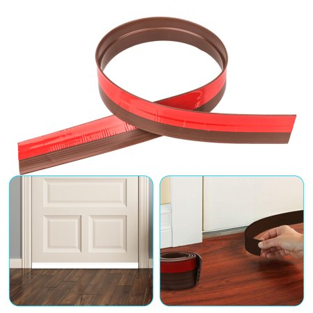TSV 36inchs Door Seals Weather Stripping Under Door Sweep Bottom Seal Strip Draft Stoppers (White/Brown)