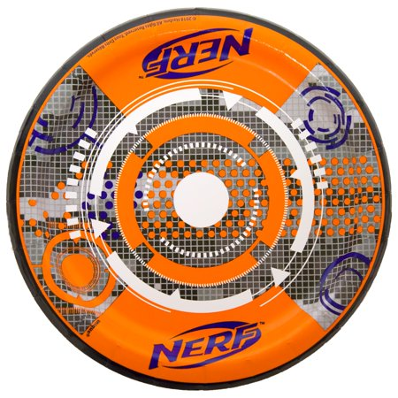 (4 Pack) Unique Industries Nerf Party Paper Dessert Plates, 7 In, 8