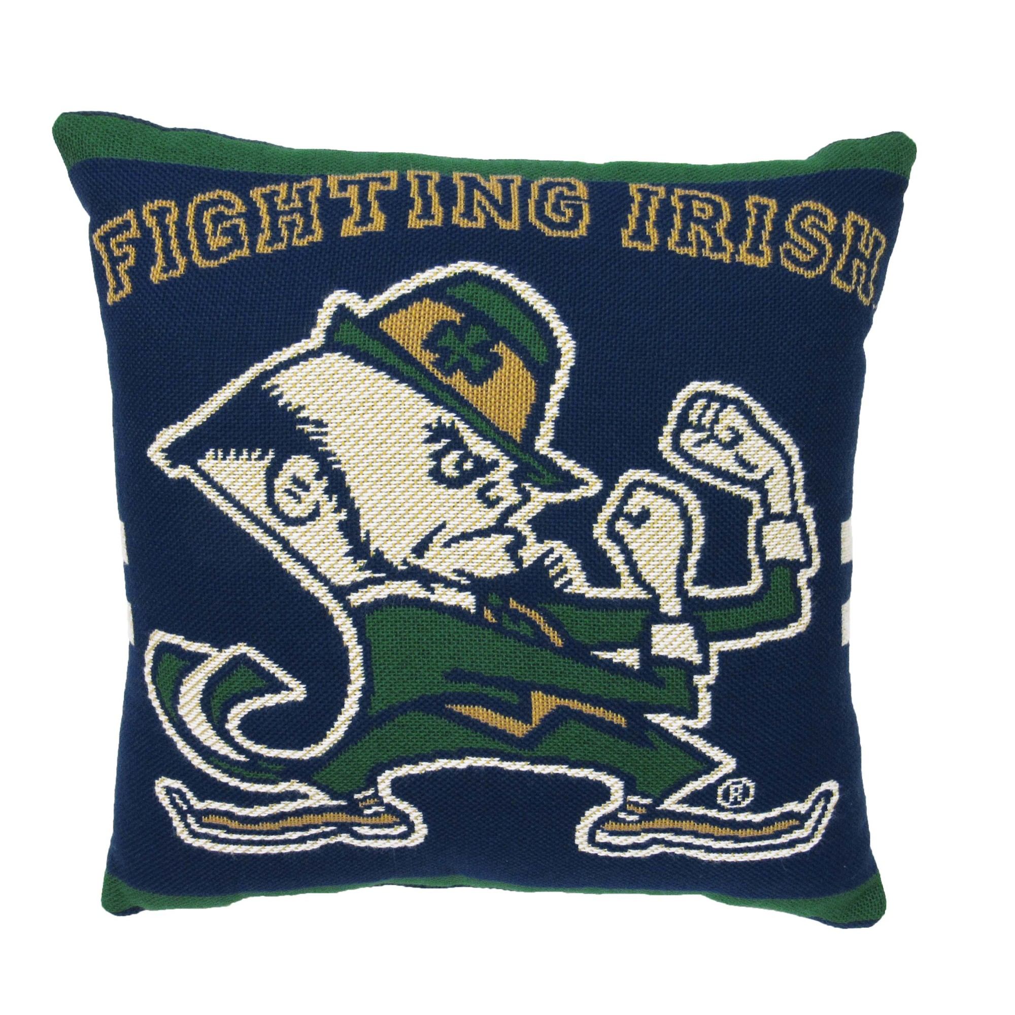 "NCAA University of Notre Dame 20"" Square Decorative Woven Pillow by The Northwest Company"
