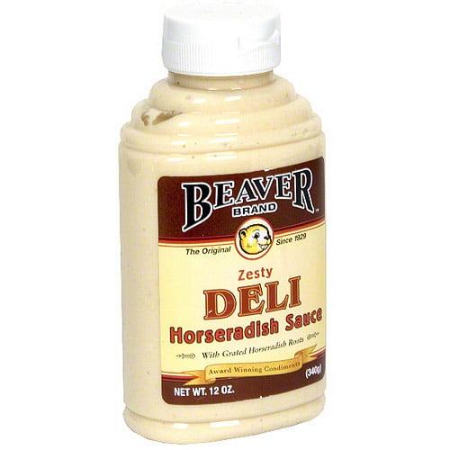 Beaver Brand Zesty Deli Horseradish Sauce, 12 oz (Pack of 6)