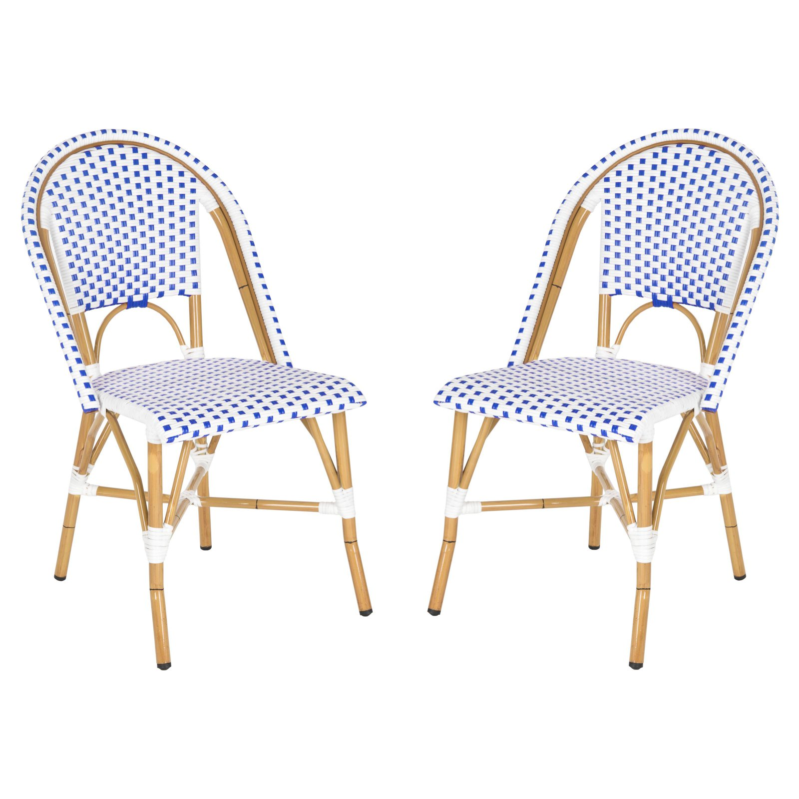 Safavieh Salcha Indoor/Outdoor Stacking Side Chair, Set of 2