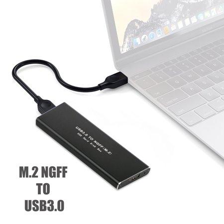 M.2 SATA SSD to USB 3.0 External SSD Reader Converter Adapter Enclosure with UASP, Support NGFF M.2 2280 2260 2242 2230 SSD