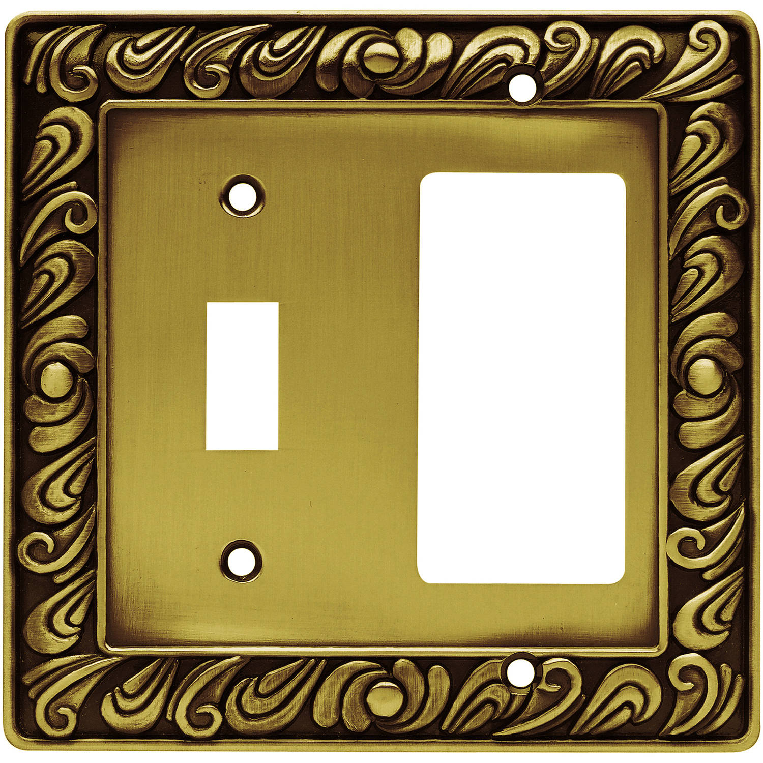 Brainerd Paisley Single Switch and Decorator/GFCI Wall Plate, Available in Multiple Colors