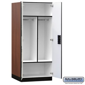 Designer Wood Storage Cabinet Wardrobe 76 Inches High 24 Deep Mahogany