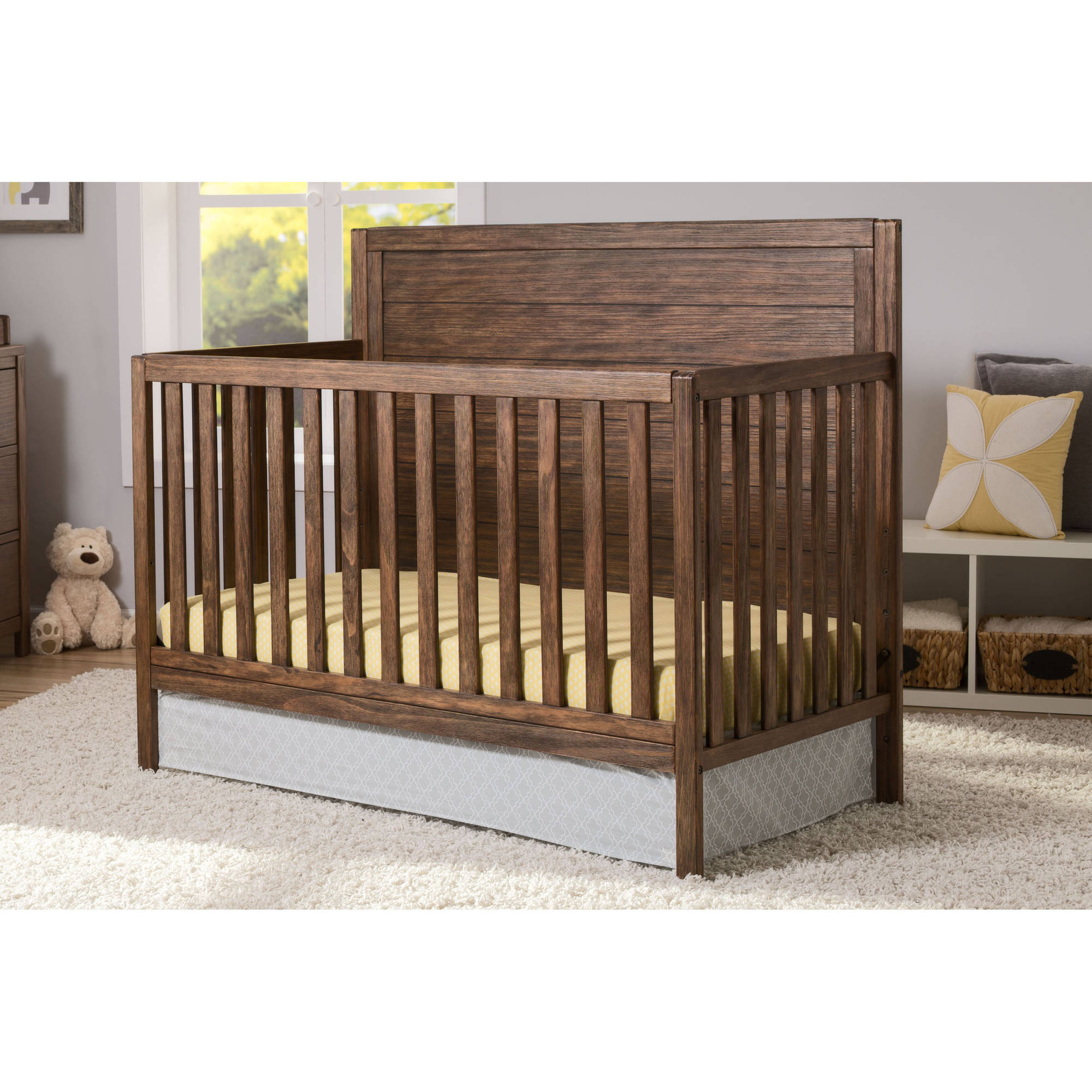 Delta Children Cambridge 4-in-1 Convertible Crib, (Choose Your Finish)