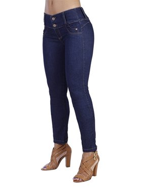Low Waist Women Skinny Pencil Pants Blue Jeans