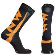 Northwave, Extreme Winter High Sock Black/Orange Fluo. LG