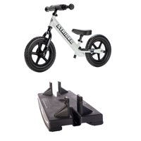 Strider 2-in-1 Grow With Me Baby Rocker and Ride-On Balance Bike Toy, White