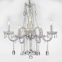 """Authentic All Crystal Chandelier Lighting H27"""" X W24"""""""