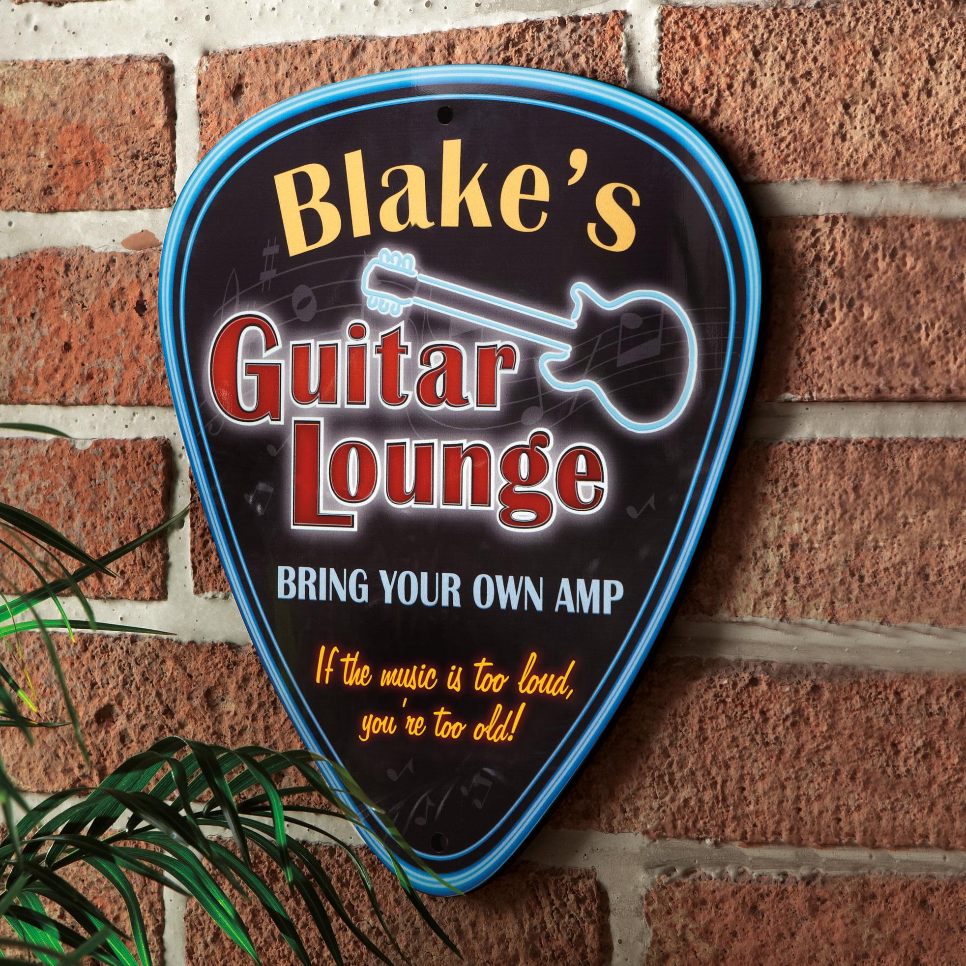 Personalized Guitar Lounge Guitar Pick Sign Walmart