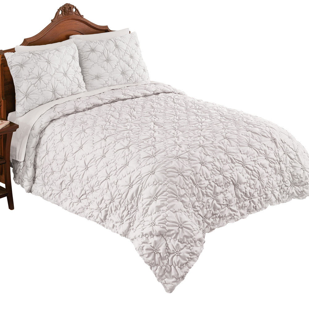 Elegant Madison Pintuck Quilted Textured Bedspread - Decorative Bedroom Accent, Twin, Blush