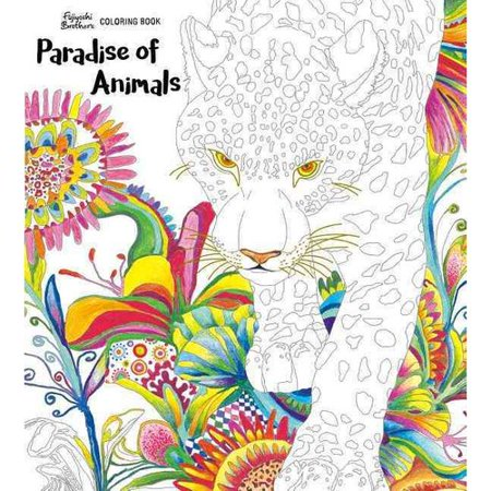 Paradise of Animals: Adult Coloring Book - Anime Adults