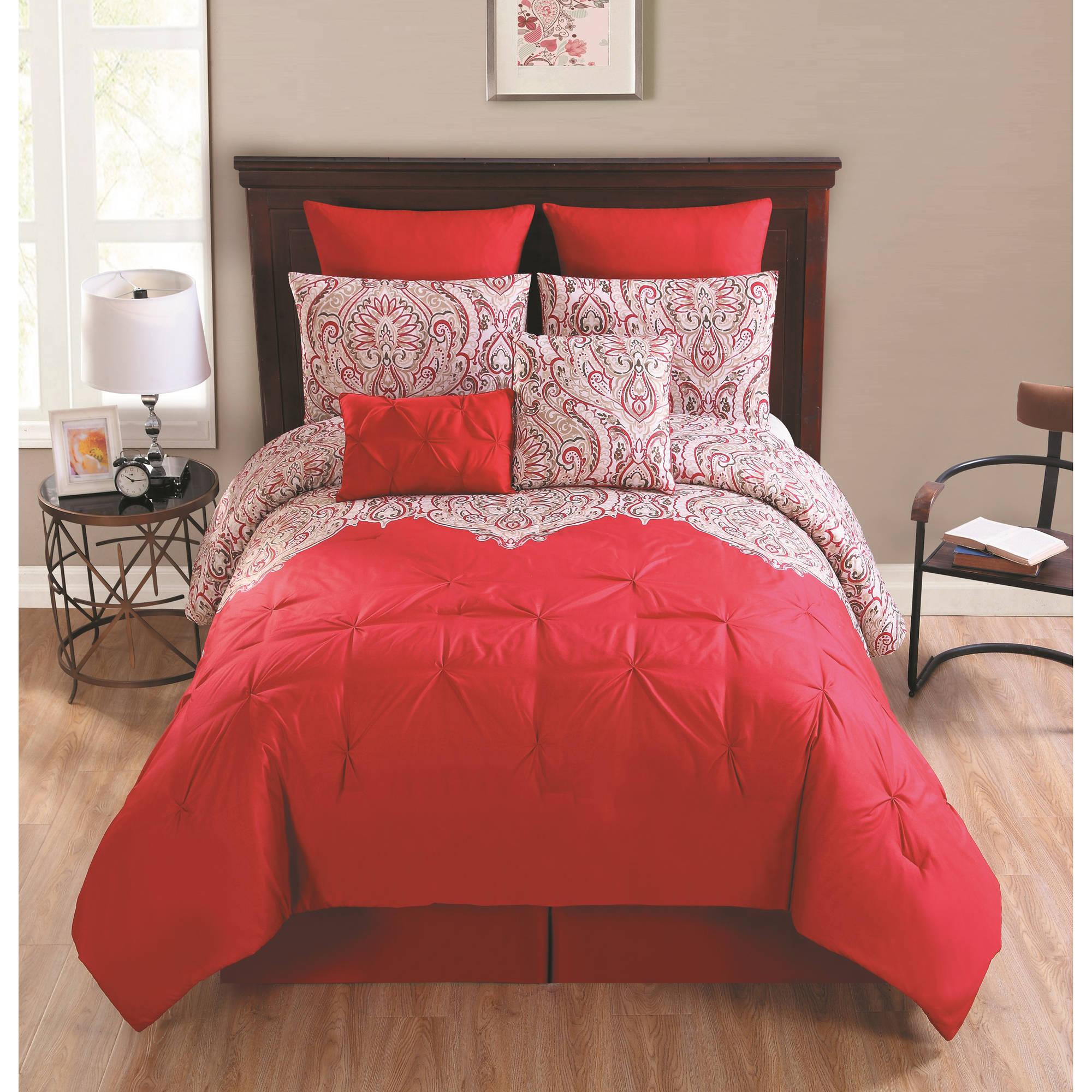 Elanza 8-Piece Bedding Comforter Set, Euro Shams included
