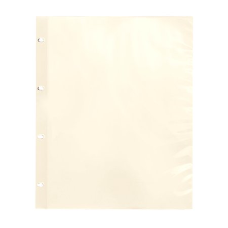 Oversize Album Pages Sheet Protectors Ivory 4 Ring - Mint Sheet Album