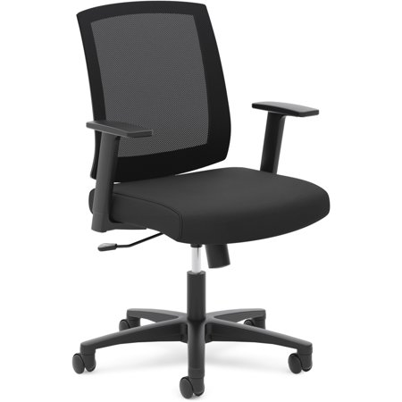 - basyx VL511 Mesh Mid-Back Task Chair with Arms, Black