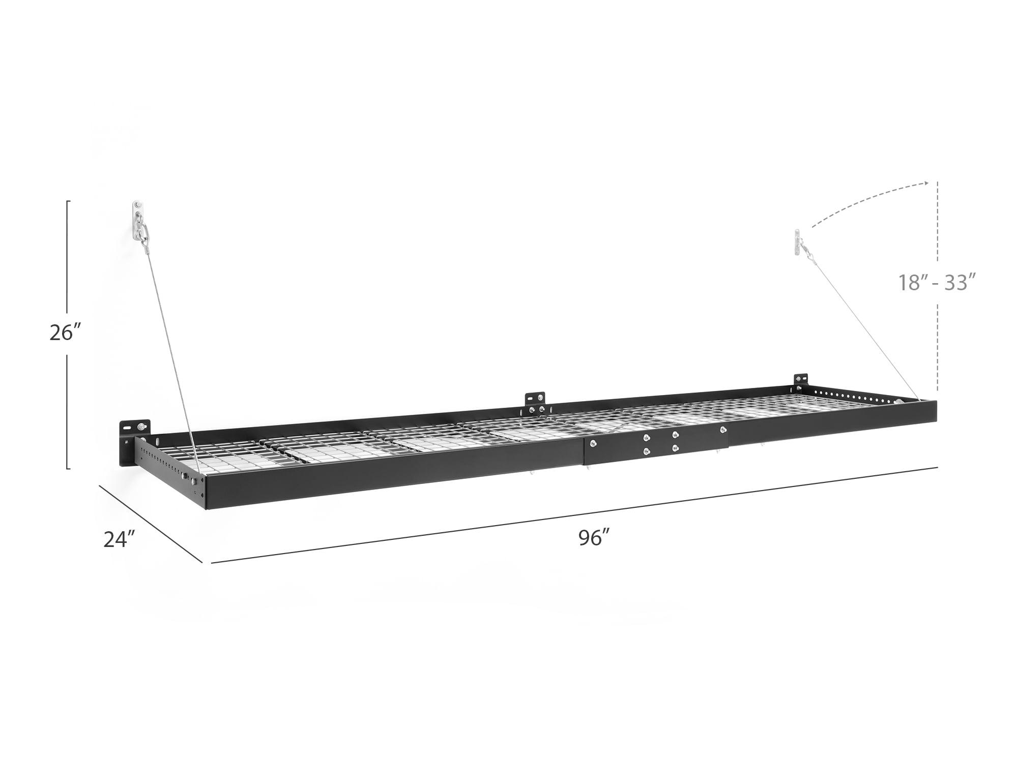 40408 Wall Mounted Steel Shelf Set /& 2 NewAge Products Pro Series Black 4 x 8 x 8 Garage Overheads