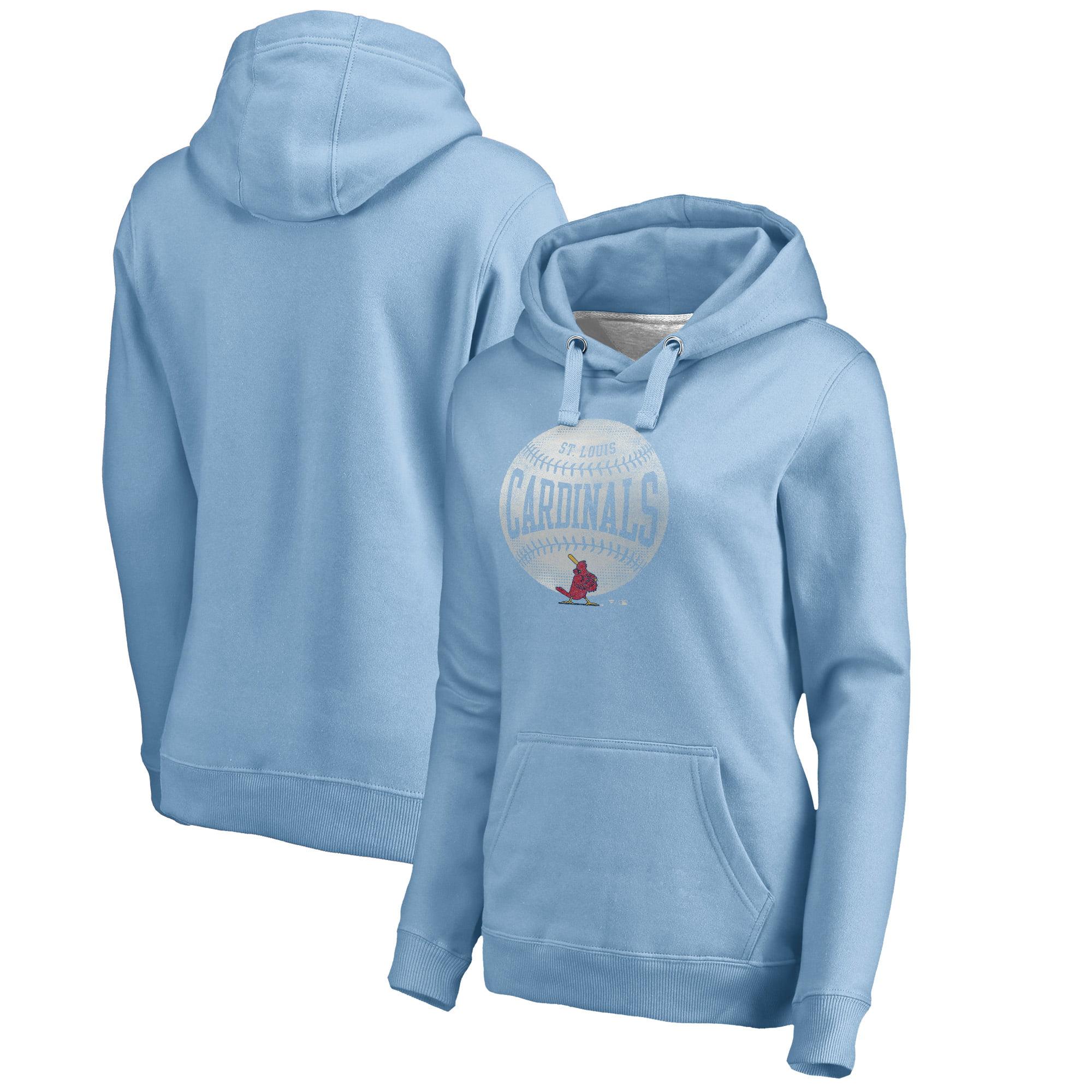 St. Louis Cardinals Fanatics Branded Women's Cooperstown Collection Slider Pullover Hoodie - Light Blue