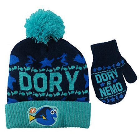 Disney Finding Dory and Nemo Boys Hat and Mitten Set - Toddler - Nemo Hat