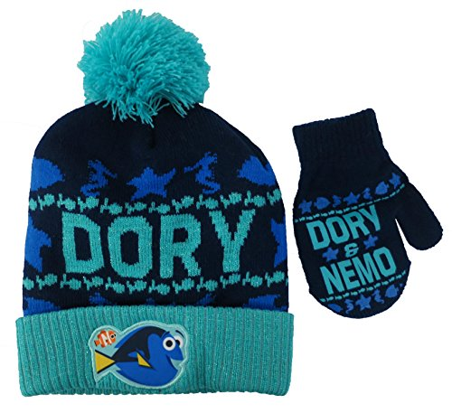 Disney Finding Dory and Nemo Boys Hat and Mitten Set - Toddler [4013]
