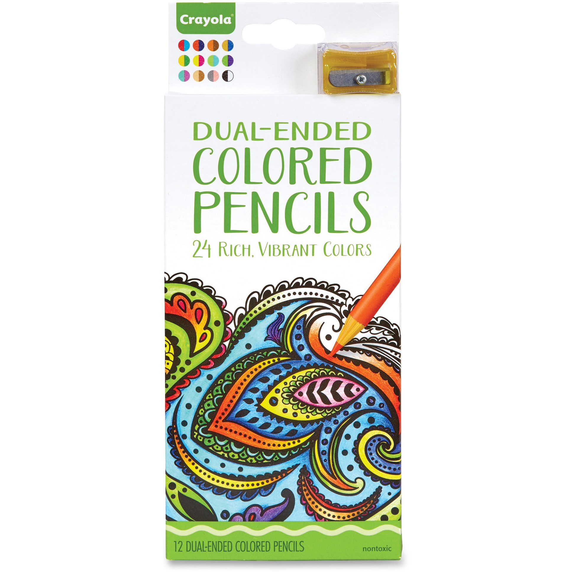 Crayola 12ct Adult Coloring Dual-Ended Colored Pencils by Crayola, LLC