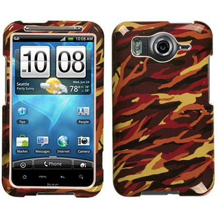 HTC Inspire 4G MyBat Protector Case, Camo/Yellow