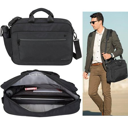 "Travelon Men Anti Theft Briefcase 15"" Messenger Laptop Business Travel Bag Black"