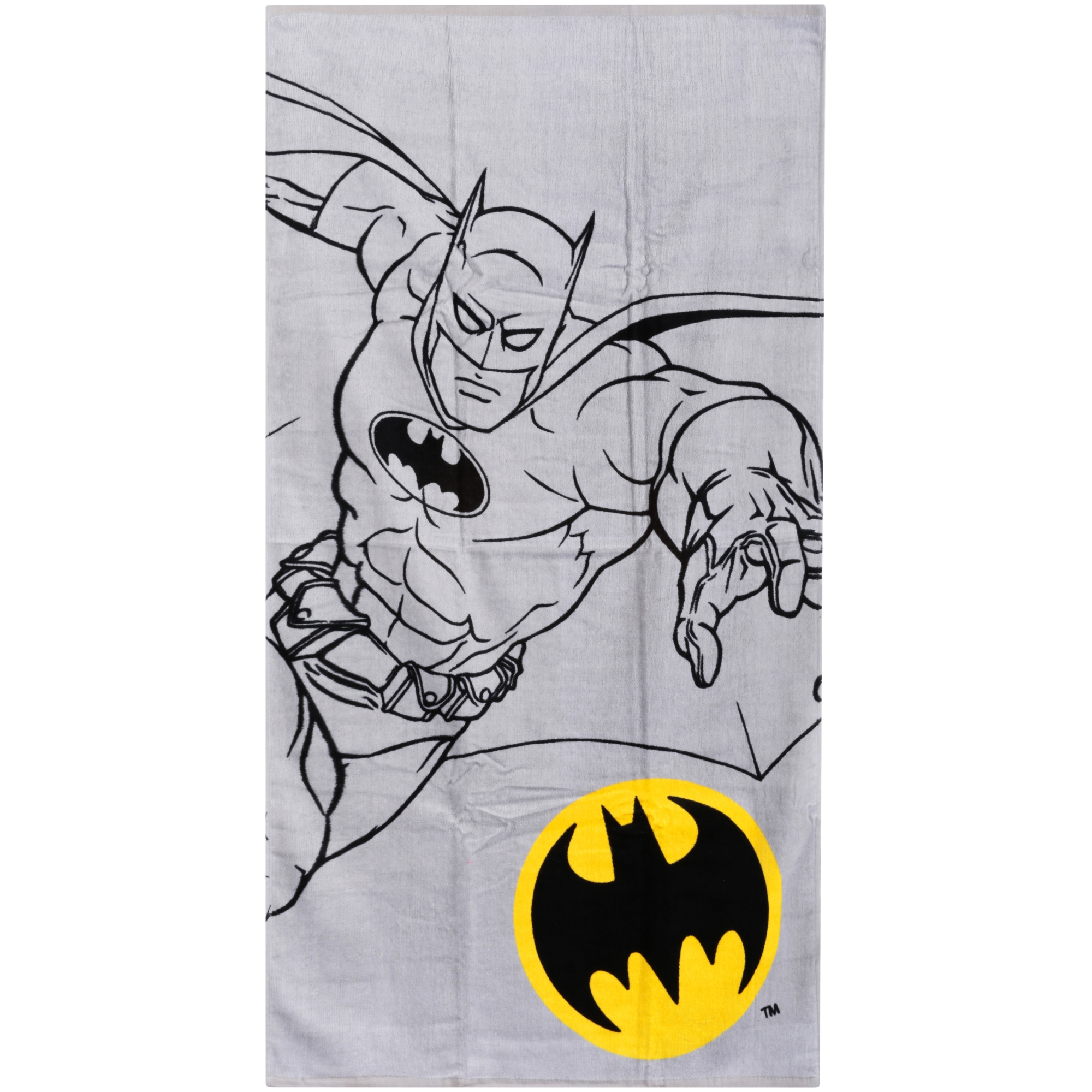 "Batman ""Batman Logo"" Bath Towel, 25"" x 50\ by Franco Manufacturing Co., Inc."