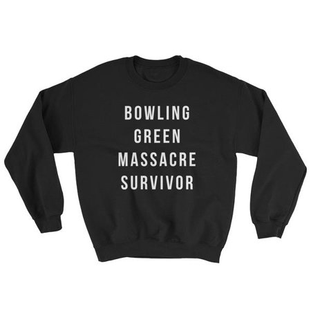 Bowling Green Survivor Small Black Crewneck (Bowling Cotton Sweatshirt)