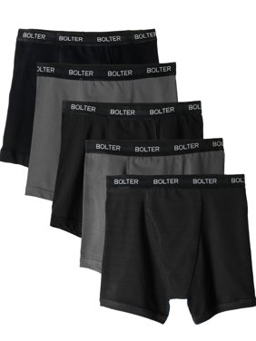 Product Image 5-Pack Boxer Briefs by Bolter Men s Cotton Spandex Underwear  Tagless (Large 353c83342b4