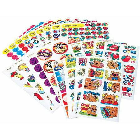 Assortment Scrapbooking - Trend Enterprises Super Assortment Sticker Pack, Set of 1000