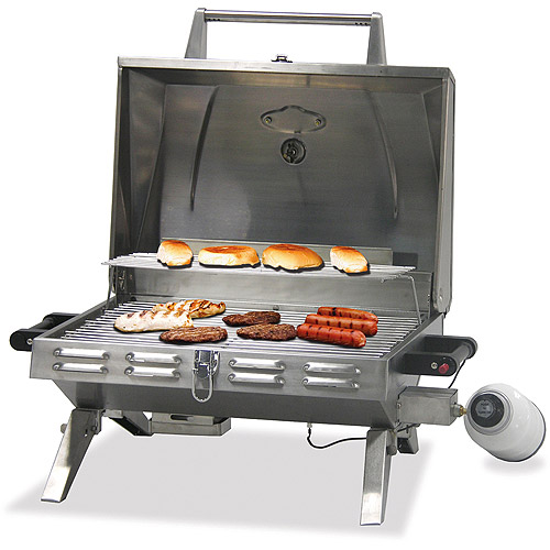 Uniflame 12,000 BTU Portable Gas Grill, Stainless Steel