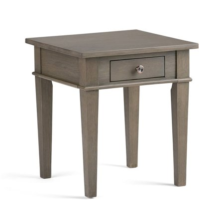 Atlin Designs Square End Table in Farmhouse Gray - image 6 of 6