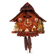 Black Forest Woodcutter 10 Inch Wide Cuckoo Clock