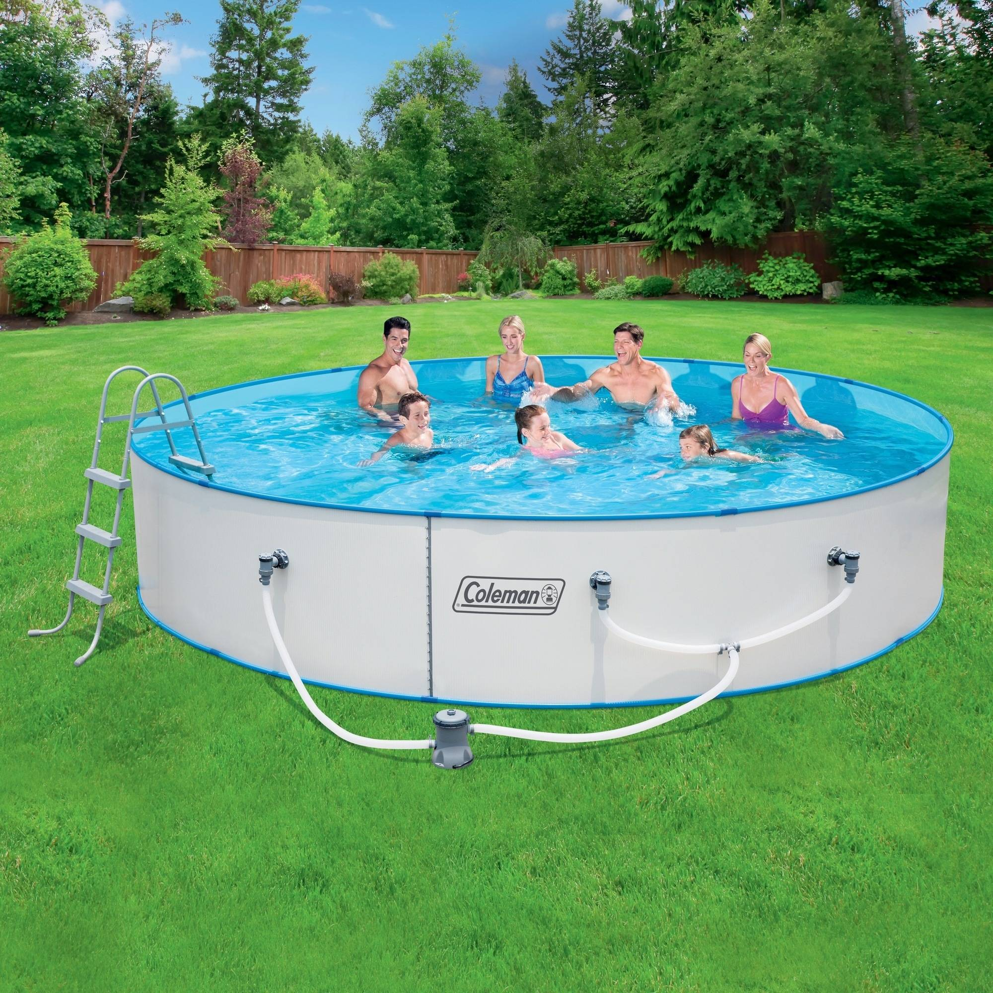 Coleman 15 39 x 36 steel wall fast set above ground - Walmart above ground swimming pools ...