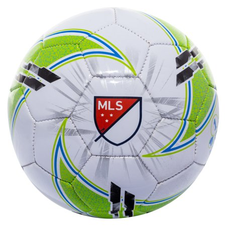 Franklin Sports MLS Soccer Ball, Size 1, Black, Green and White - Soccer Ball Glow In The Dark