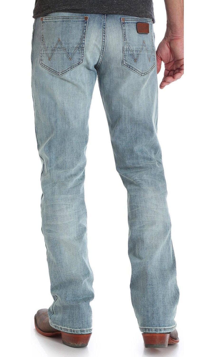wrangler mens retro slim fit boot cut