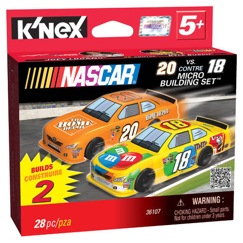 K'NEX NASCAR 20 Home Depot and 18 M and M's Micro Scale Building Set