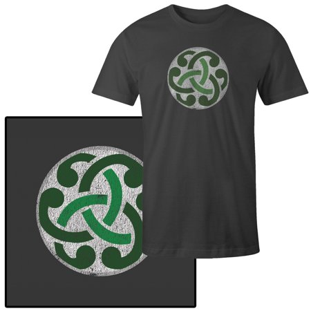 Celtic Knots And Symbols (Men's Green Celtic Knot Symbol on White T-Shirt )