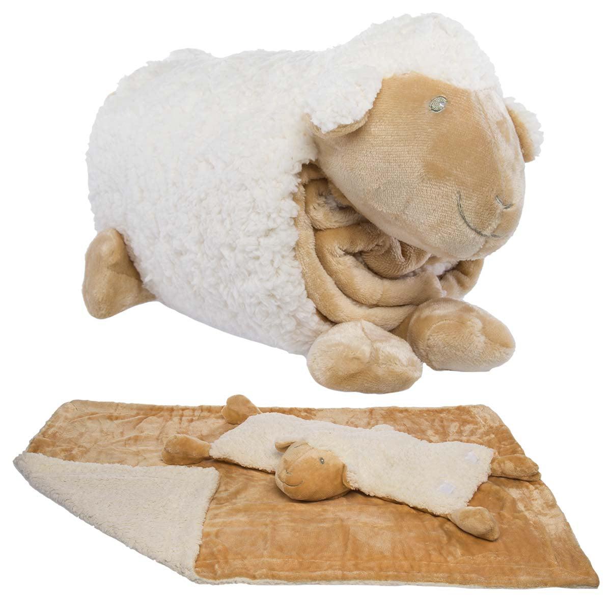 Snuggle Me Sherpa Large Soft Baby Blanket Plush Pillow Stuffed
