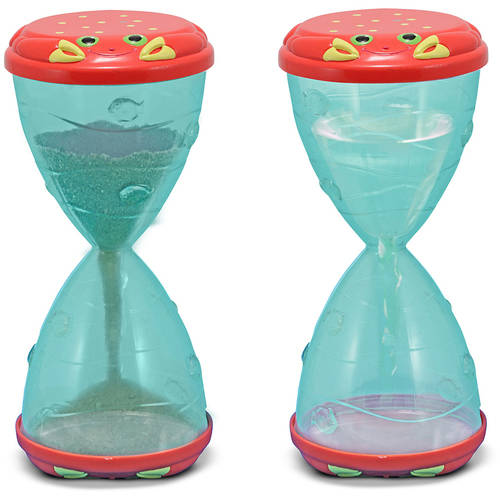 Melissa & Doug Sunny Patch Clicker Crab Hourglass Sand and Water Sifter and Funnel Toy