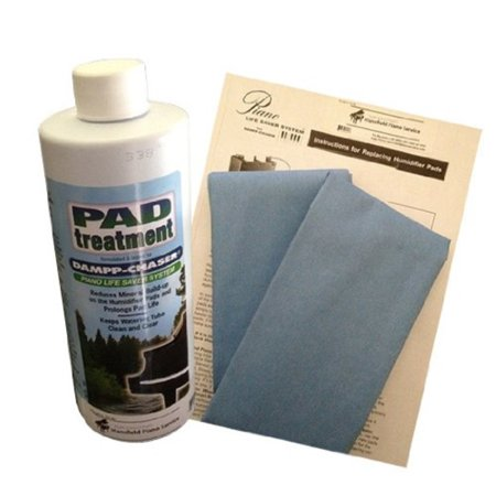 Dampp Chaser Piano Humidifier Pad Treatment 7.5 oz Bottle with BONUS Two Replacement Humidifier Pads