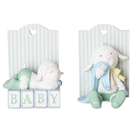 Set Of 2 Gina Freehill Children S Nursery Baby Lamb Bookends 5