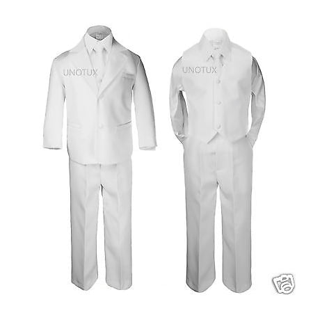 New Boy Formal 1st Communion Christening Wedding Tuxedo Suit White New Born - 20 - First Communion Suits For Boy