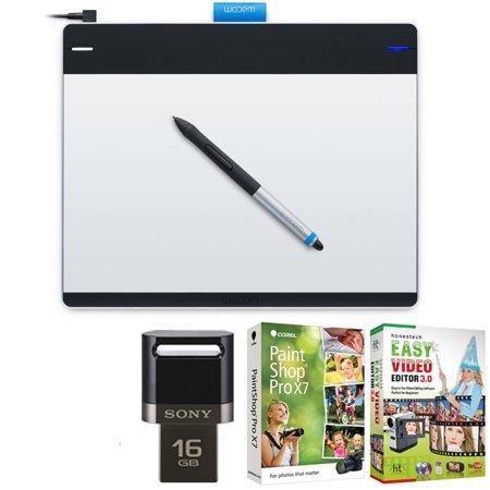 Wacom Intuos Pen & Touch Tablet Medium Creative Bundle w/16GB Lexar USB +  Corel Paint includes Wacom Intuos Creative Tablet, Corel Paint Shop Pro and