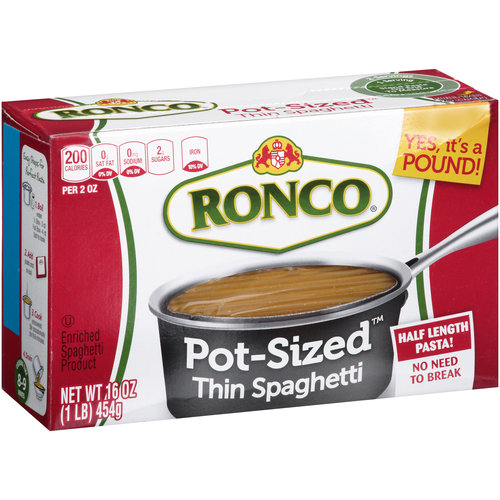 Ronco Pot-Sized Thin Spaghetti Pasta, 16 oz