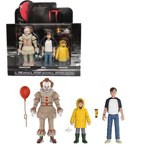 FUNKO IT 2017 10CM ACTION FIGURE 3 PACK PENNYWISE GEORGIE BILL