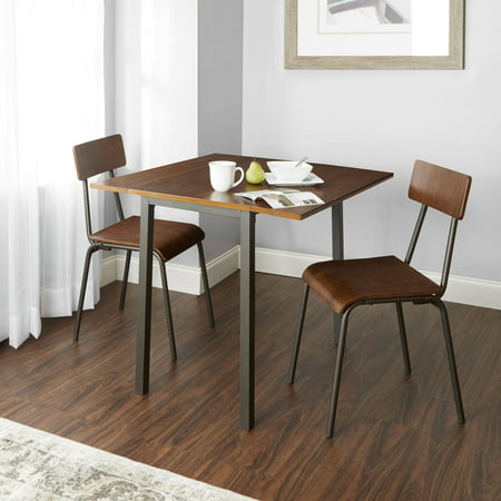 Bellagio Dining Set - Better Homes and Gardens Berkeley 3-Piece Wood & Metal Dining Set