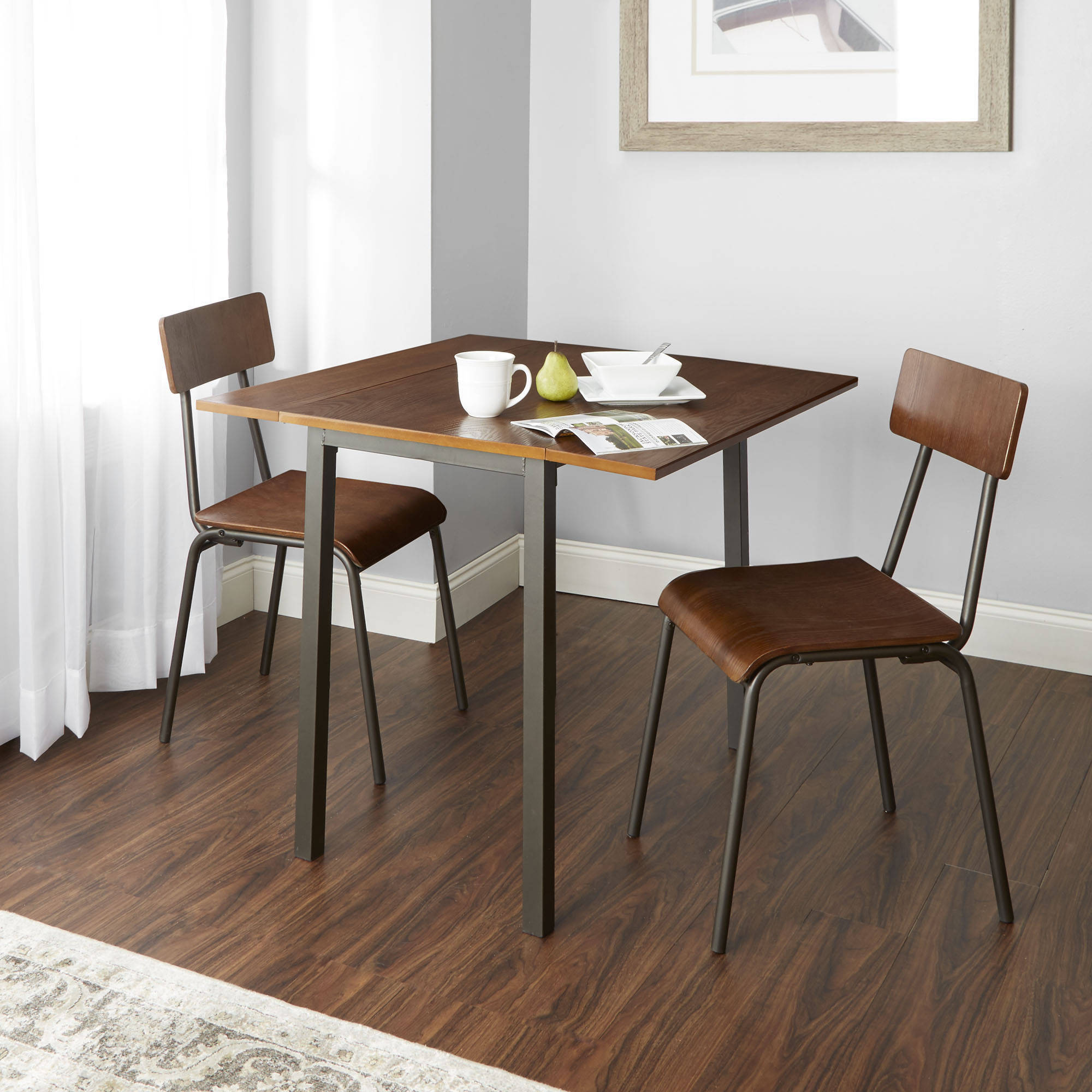 Better Homes and Gardens Berkeley 3-Piece Wood & Metal Dining Set