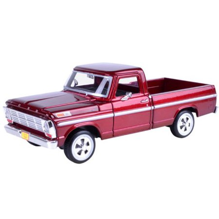 1969 Ford F-100 Pickup Truck Burgundy 1/24 by 79315, model car By (1969 Ford Fairlane 500 Convertible For Sale)