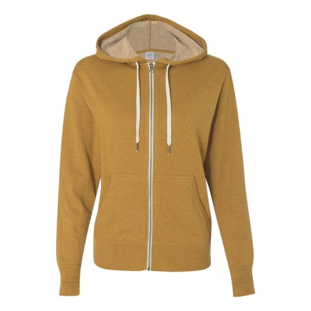 - Independent Trading PRM90HTZ French Terry Heathered Hooded Full-Zip Sweatshirt